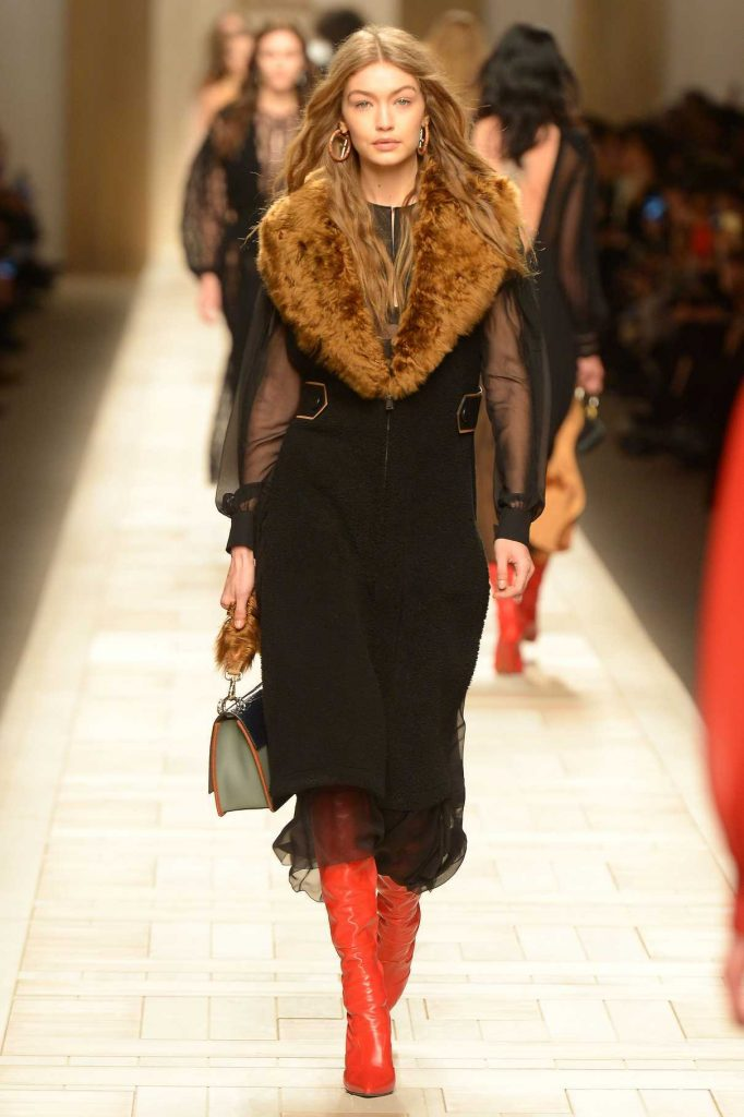 Gigi Hadid at the Fendi Show During the Milan Fashion Week 02/23/2017-1