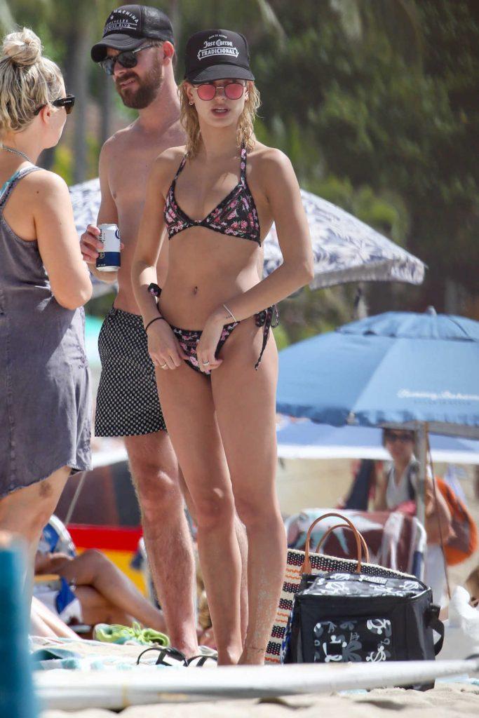Hailey Baldwin in Bikini at the Beach in Hawaii 02/03/2017-1