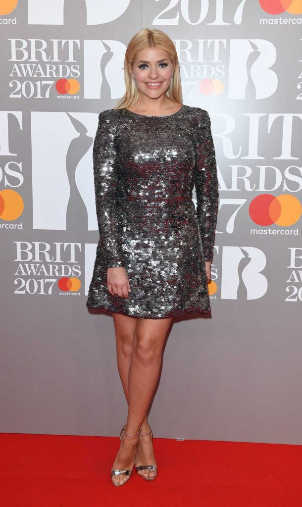 Holly Willoughby at the Brit Awards at O2 Arena in London 02/22/2017-1
