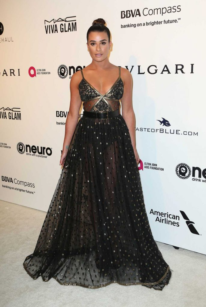 Lea Michele at Elton John AIDS Foundation Academy Awards Viewing Party in Los Angeles 02/26/2017-1