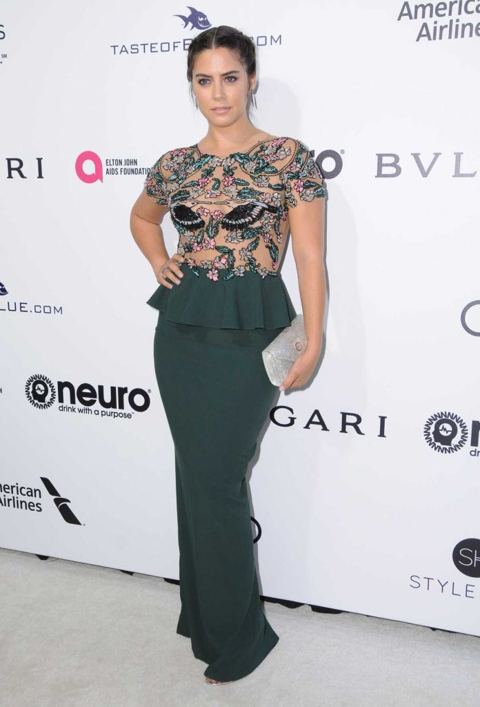 Lorenza Izzo at Elton John AIDS Foundation Academy Awards Viewing Party in Los Angeles 02/26/2017-1