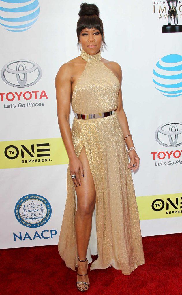 Regina King at the 48th NAACP Image Awards in Pasadena 02/11/2017-1