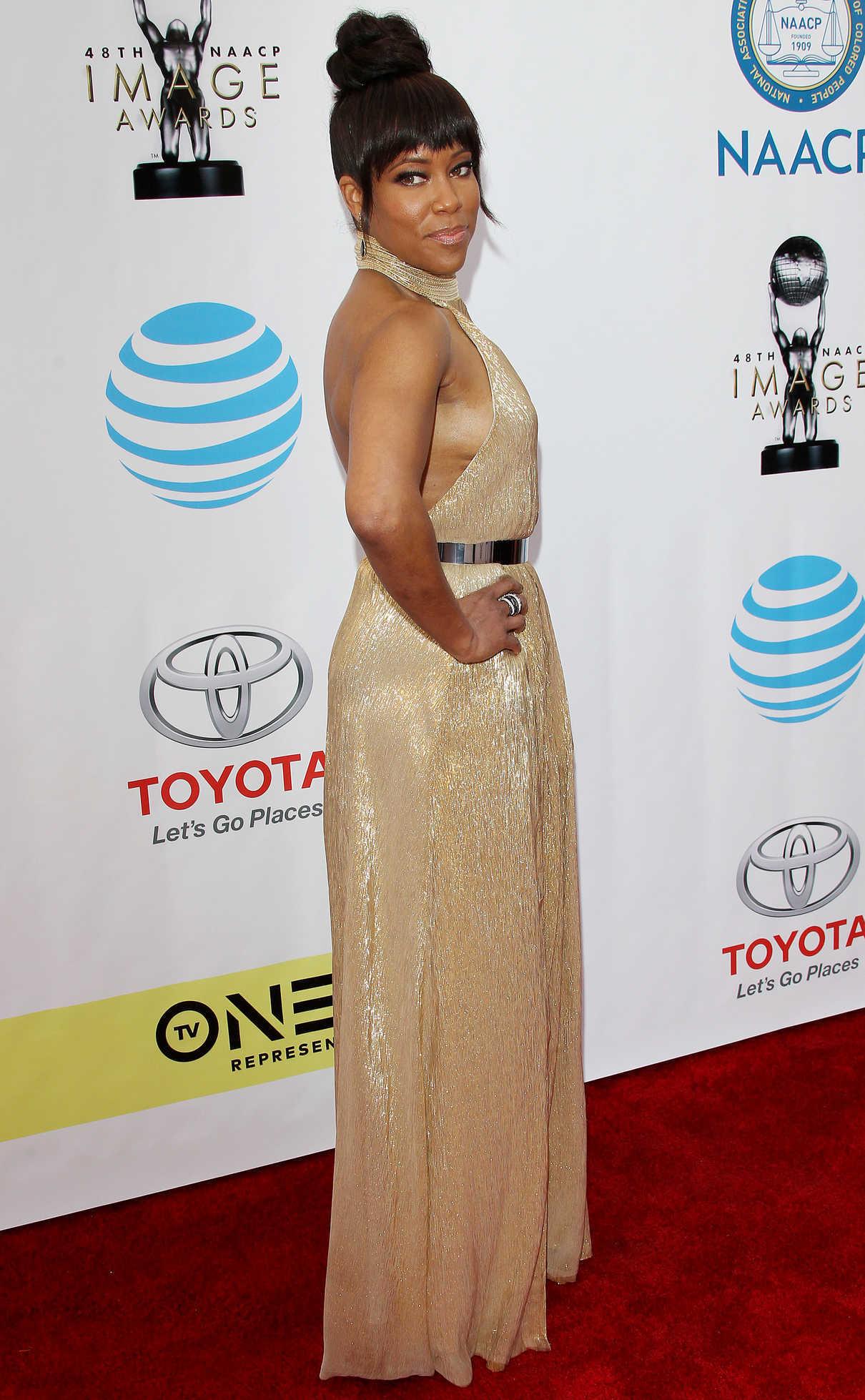 Regina King at the 48th NAACP Image Awards in Pasadena 02/11/2017-3