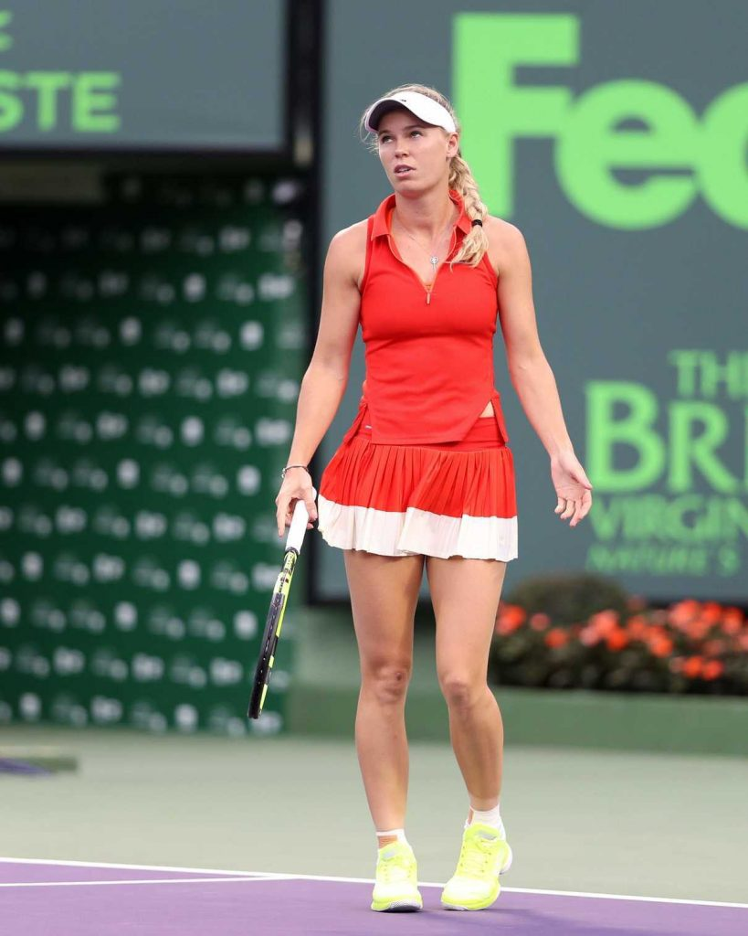 Caroline Wozniacki at Miami Open in Key Biscayne 03/23/2017-1