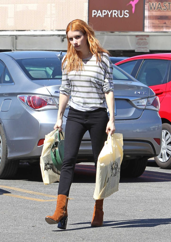 Emma Roberts Goes Shopping in Los Angeles 03/09/2017-1