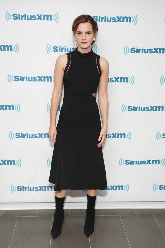 Emma Watson at SiriusXM Studios in NYC 03/10/2017-1