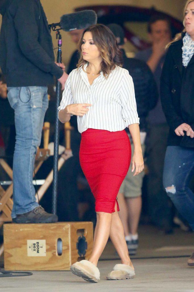 Eva Longoria on the Set of Fox's Television Show Type A in LA 03/24/2017-1