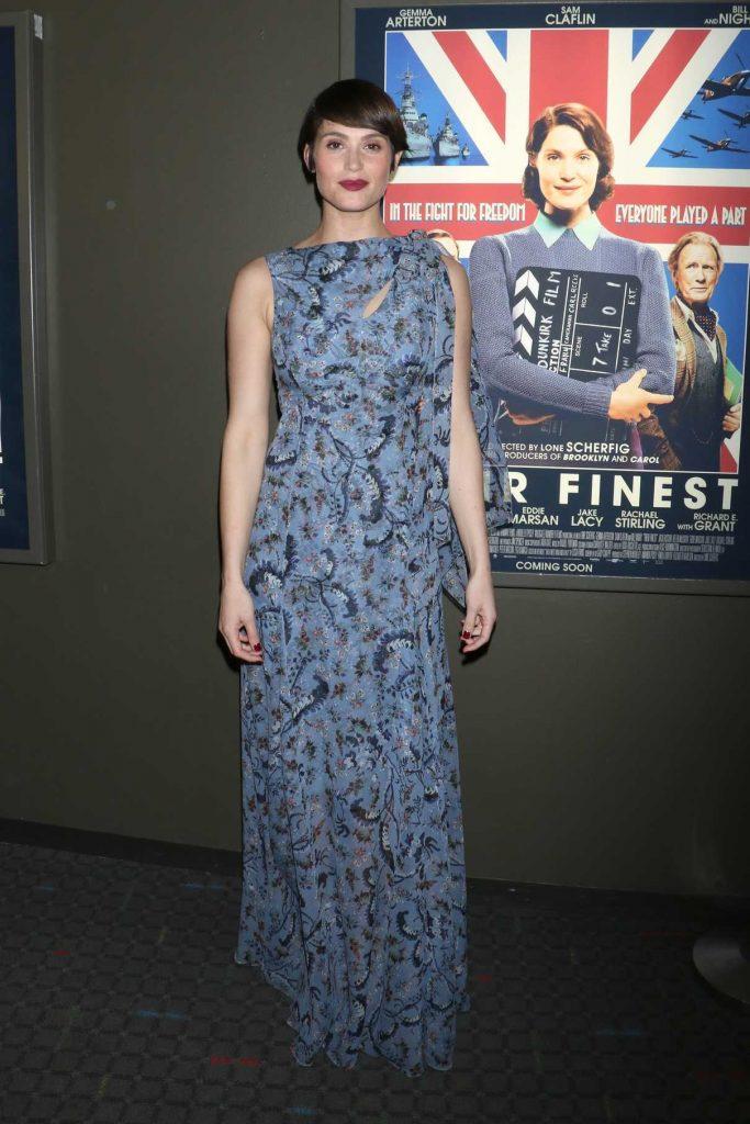 Gemma Arterton Attends Their Finest Premiere in New York 03/23/2017-1