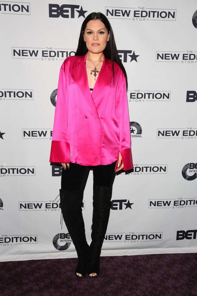 Jessie J at the BET Presents the New Edition Story VIP Screening in London 02/28/2017-1