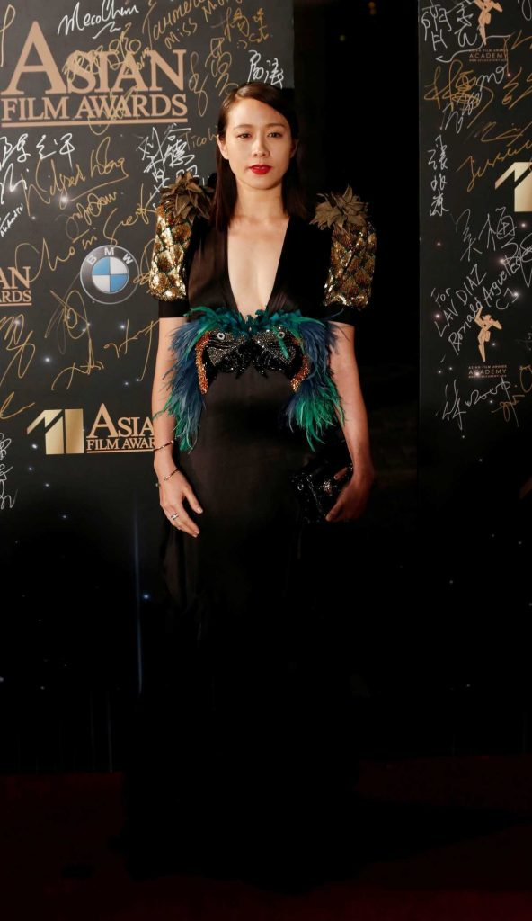 Karena Lam at Asian Film Awards in Hong Kong 03/21/2017-1