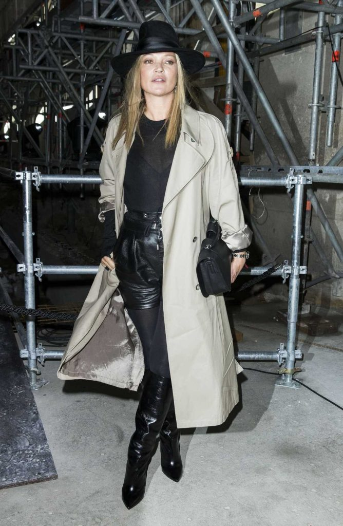 Kate Moss at the Saint Laurent Show During the Paris Fashion Week 02/28/2017-1