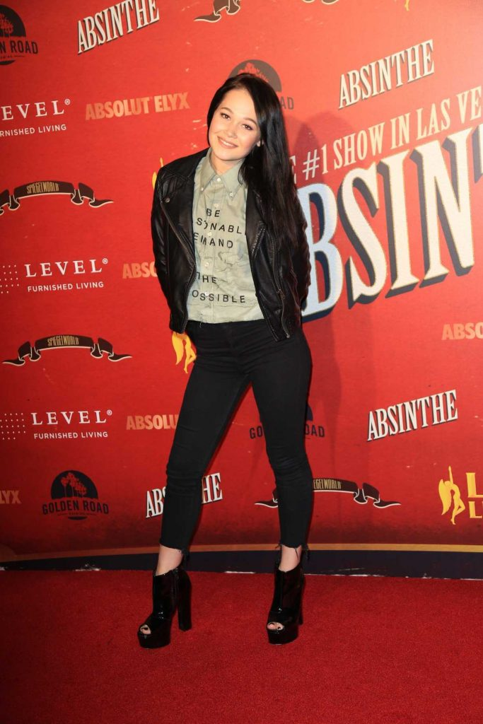 Kelli Berglund at Opening Night of Absinthe at L.A. Live in Los Angeles 03/23/2017-1