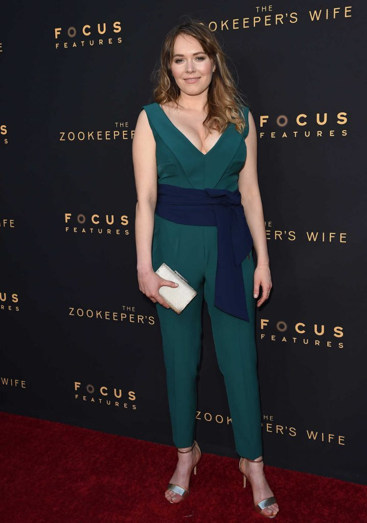 Magdalena Lamparska at The Zookeeper's Wife Premiere in Los Angeles 03/27/2017-1
