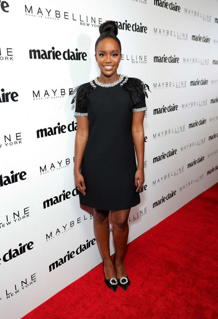 Aja Naomi King at the Marie Claire Celebrates Fresh Faces Event in Los Angeles 04/21/2017-1