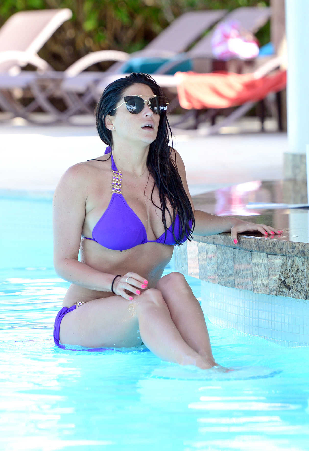 Casey Batchelor in a Purple Bikini While on Holiday in Dominican Republic 03/30/2017-7