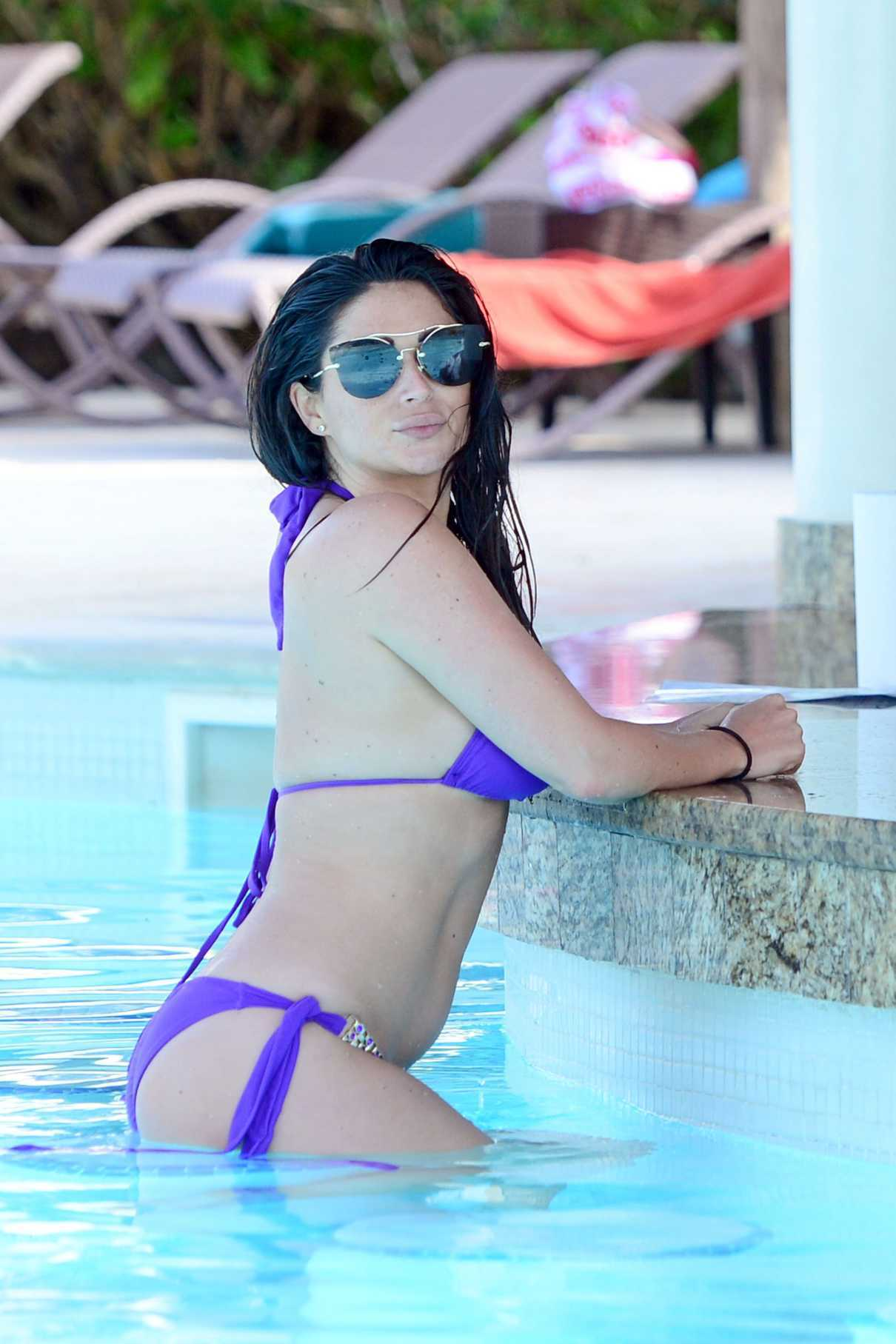 Casey Batchelor in a Purple Bikini While on Holiday in Dominican Republic 03/30/2017-9