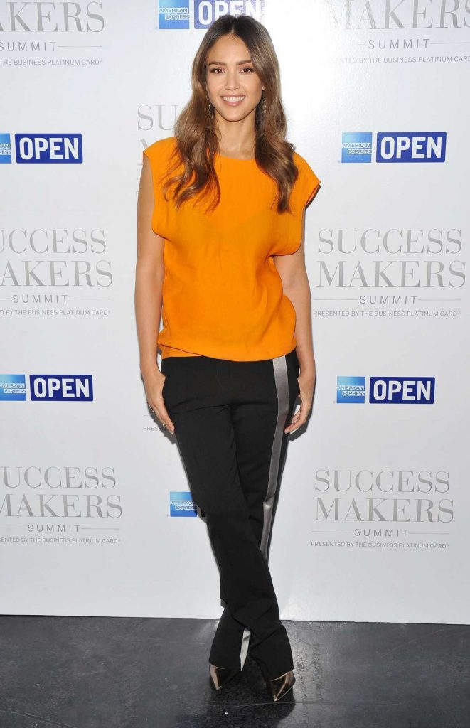 Jessica Alba at American Express Success Makers Summit in New York 04/17/2017-1