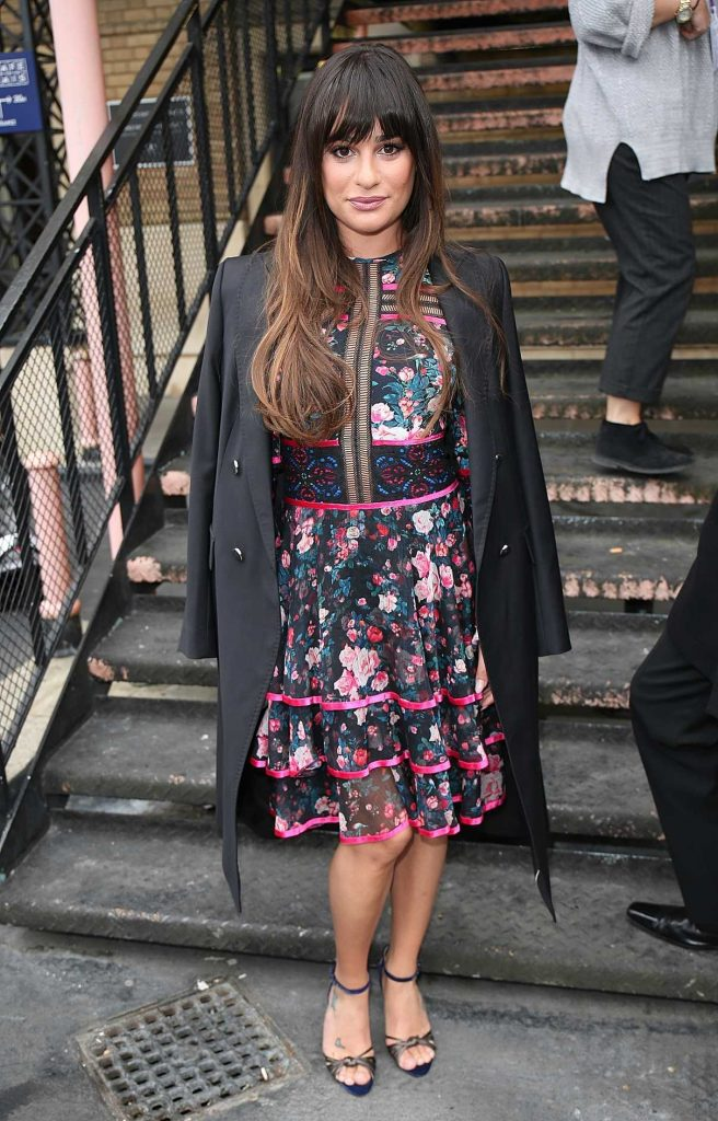 Lea Michele Arrives at Sunday Brunch in London 04/23/2017-1