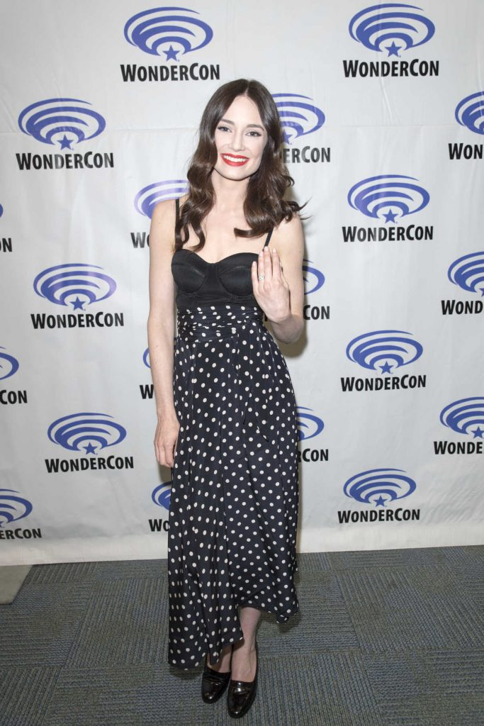 Mallory Jansen at Agents of Shield Press Room at WonderCon in Anaheim 04/01/2017-1