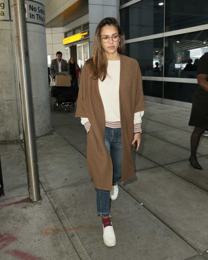 Jessica Alba at JFK Airport in New York City 06/14/2017-1