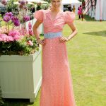 Jessica Hart at the Cartier Queen's Cup Polo Final in Surrey 06/18/2017