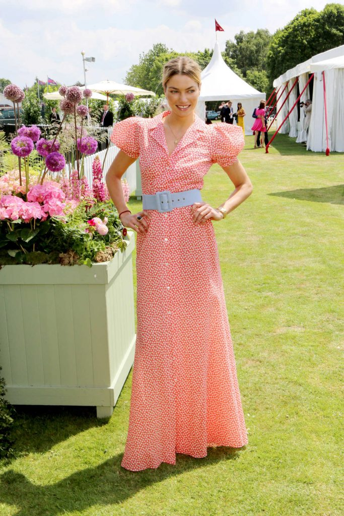 Jessica Hart at the Cartier Queen's Cup Polo Final in Surrey 06/18/2017-1