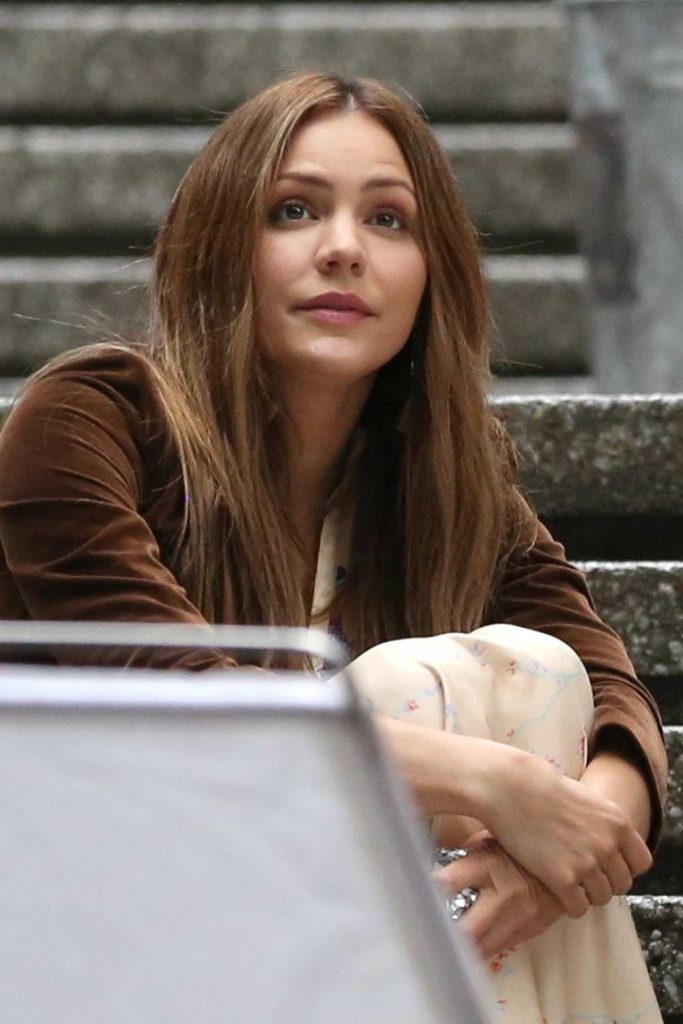 Katharine McPhee on the Set of The Lost Wife of Robert Durst in Vancouver 06/17/2017-1