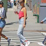 Bella Hadid Enjoys Her Ice Coffee in NYC 07/30/2017-5