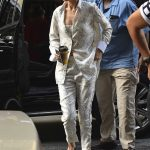 Gigi Hadid Wears a Gucci Slippers in New York City 07/17/2017-2