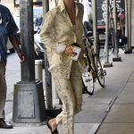 Gigi Hadid Wears a Gucci Slippers in New York City 07/17/2017-4