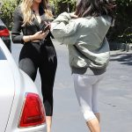 Kim Kardashian and Khloe Kardashian Filming Their Reality Show at Chin Chin Restaurant in Studio City 07/26/2017-2