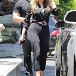 Kim Kardashian and Khloe Kardashian Filming Their Reality Show at Chin Chin Restaurant in Studio City 07/26/2017-3