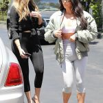 Kim Kardashian and Khloe Kardashian Filming Their Reality Show at Chin Chin Restaurant in Studio City 07/26/2017-4
