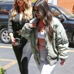 Kim Kardashian and Khloe Kardashian Filming Their Reality Show at Chin Chin Restaurant in Studio City 07/26/2017-5