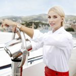 Lena Gercke Christens the AIDAperla Cruise Ship in Palma de Mallorca 06/30/2017-4