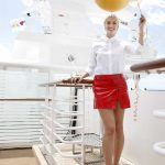 Lena Gercke Christens the AIDAperla Cruise Ship in Palma de Mallorca 06/30/2017-5