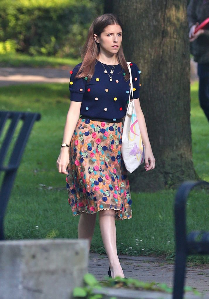 Anna Kendrick on the Set of Her New Movie A Simple Favor in Toronto 08/17/2017-1