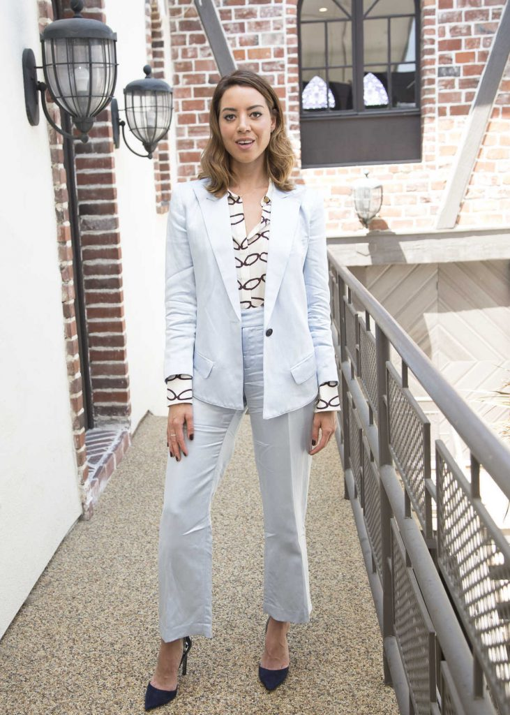Aubrey Plaza at Ingrid Goes West Press Conference in Hollywood 08/10/2017-1