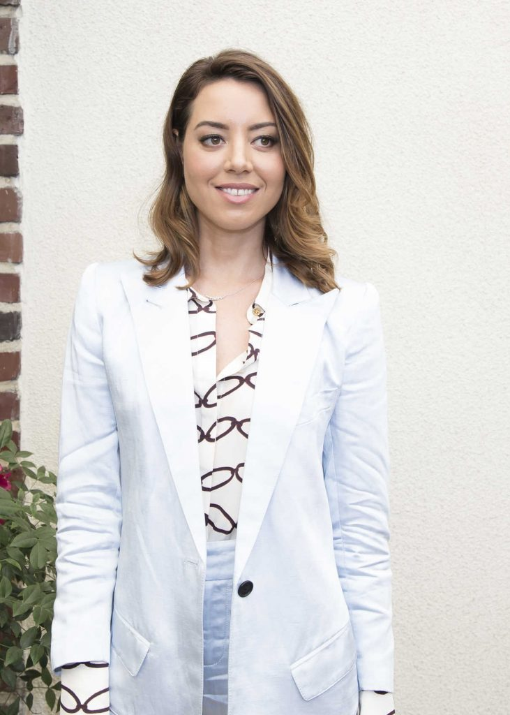 Aubrey Plaza at Ingrid Goes West Press Conference in Hollywood 08/10/2017-4
