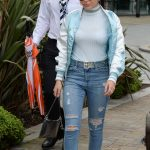 Charli XCX Leaves BBC Breakfast Studio at Media City in Manchester 08/01/2017-5