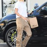 Hailey Baldwin Stops by the M Cafe in West Hollywood 08/04/2017-2