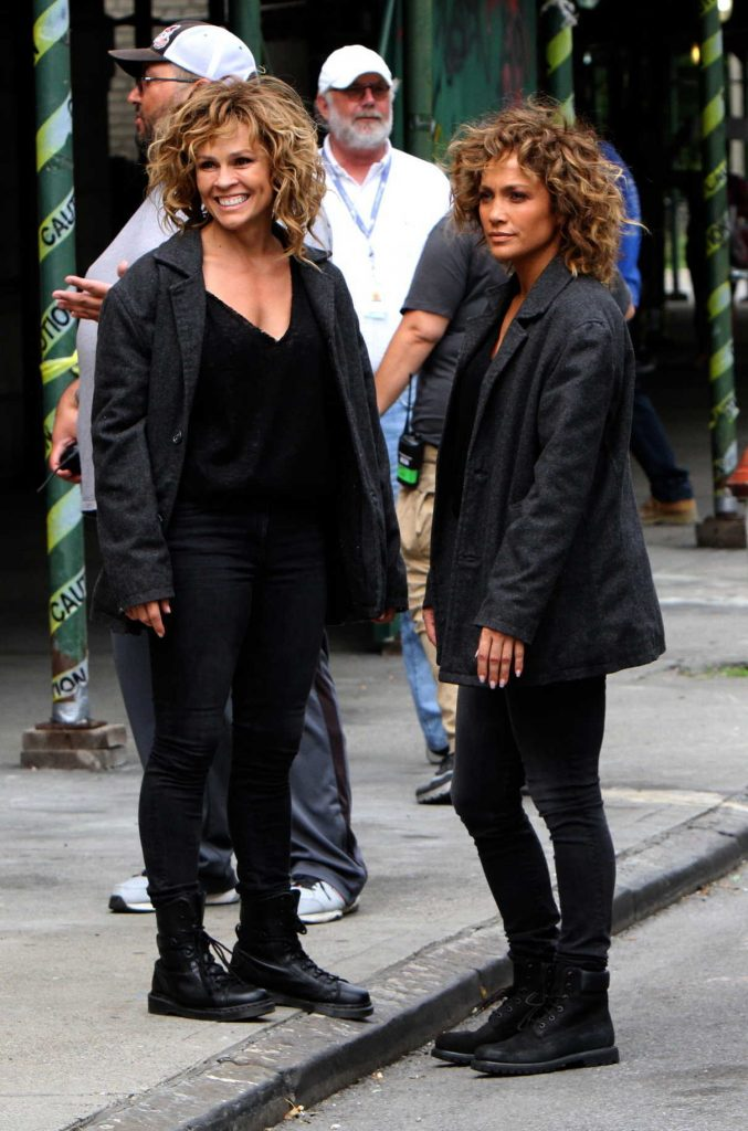 Jennifer Lopez on the Set of Shades of Blue in NYC 08/11/2017-1