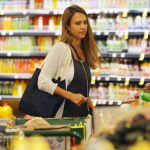 Jessica Alba Shops at Whole Foods in Beverly Hills 07/30/2017-5