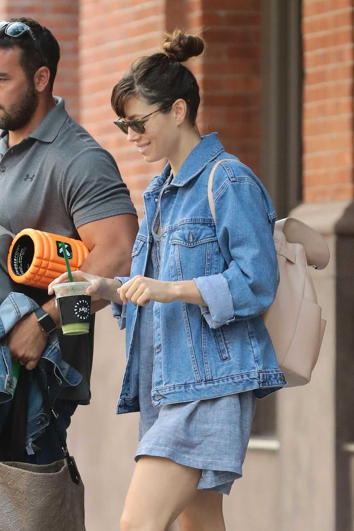 Jessica Biel Leaves Her Hotel in New York 08/10/2017-5