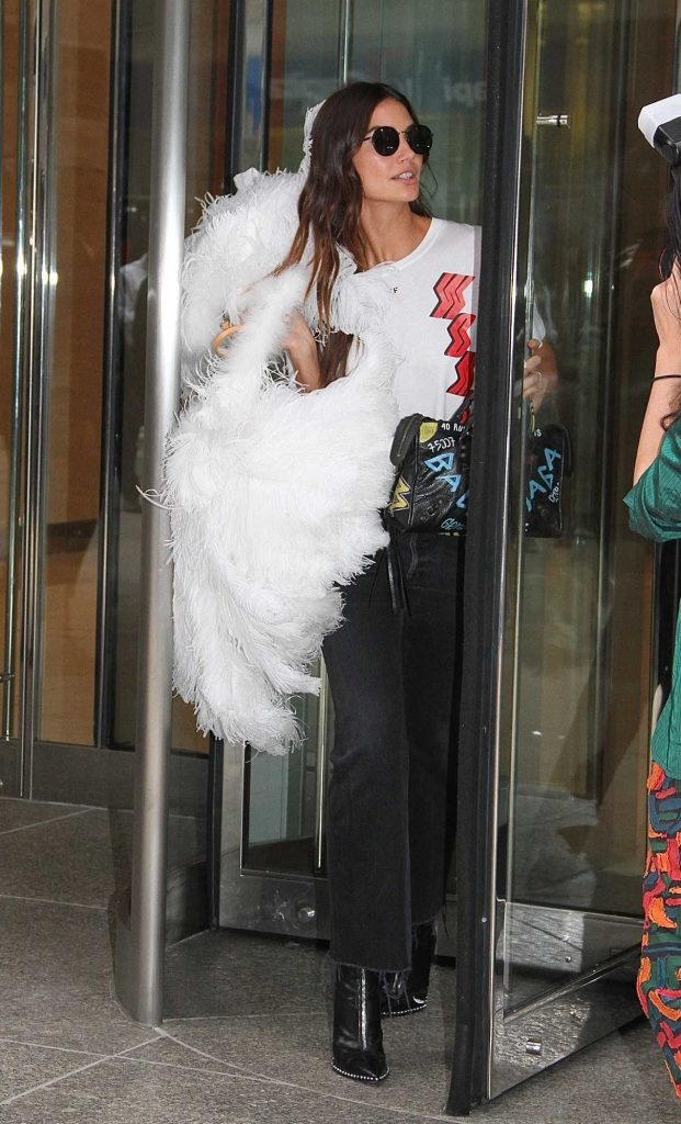 Lily Aldridge Attends the Fittings for the Victoria Secret Fashion Show in NYC 08/29/2017-1