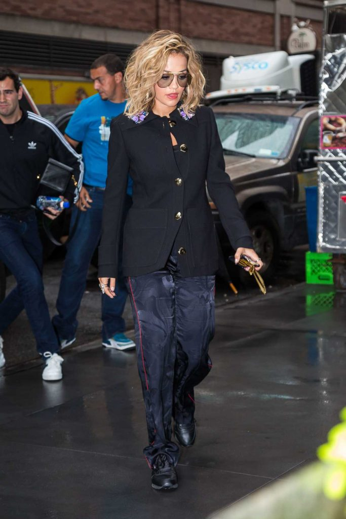 Rita Ora Leaves Good Morning America in New York City 08/07/2017-1