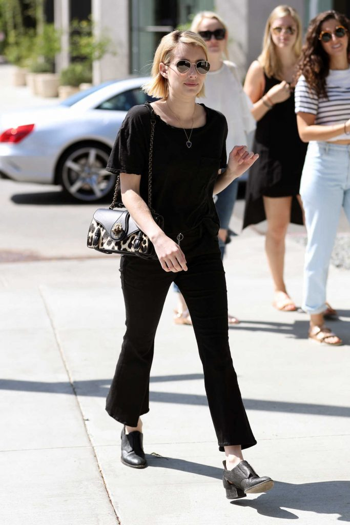 Emma Roberts Goes Shopping on Melrose Place in West Hollywood 09/22/2017-1