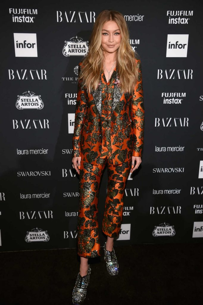 Gigi Hadid at Harper's Bazaar ICONS Party During New York Fashion Week 09/08/2017-1