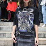 Lena Meyer-Landrut Arrives at the Balmain Show During Paris Fashion Week 09/28/2017-3