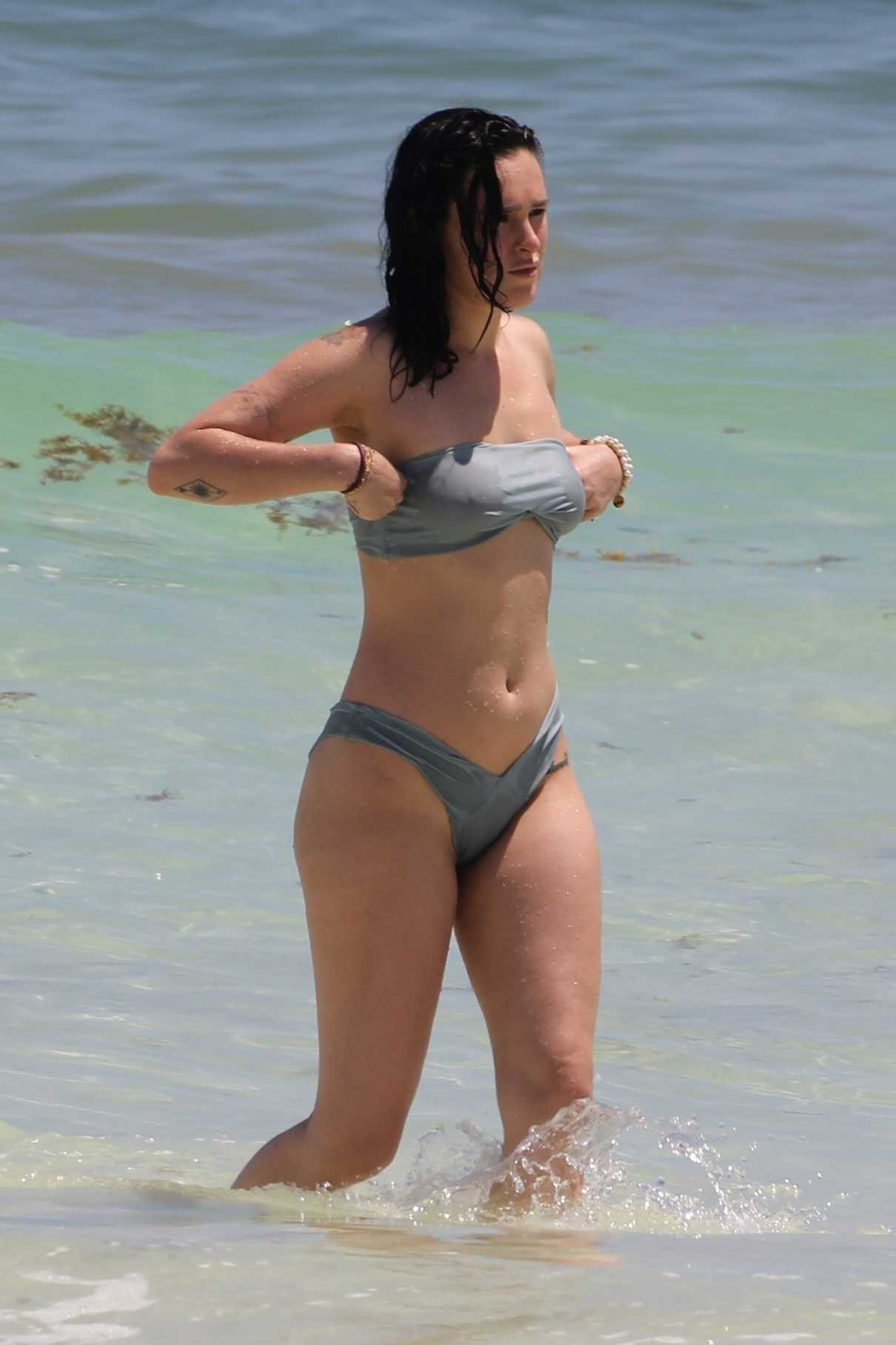 Rumer Willis in Bikini at the Beach in Cancun 09/06/2017-2